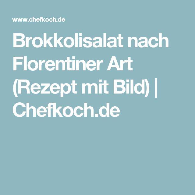 Brokkolisalat nach Florentiner Art (Rezept mit Bild)   Chefkoch.de