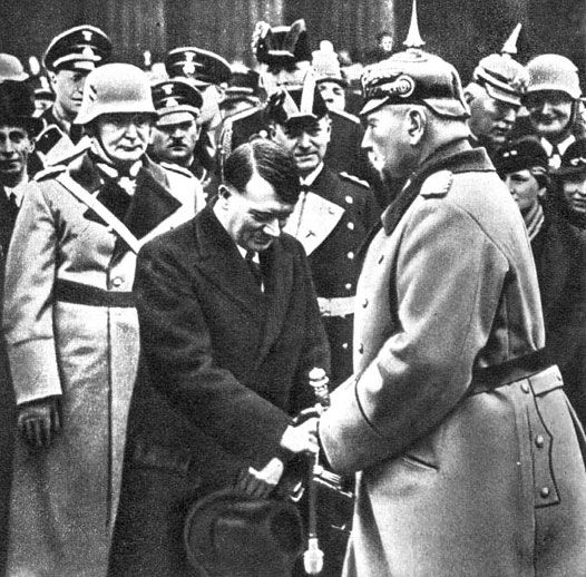 Germany. President Paul von Hindenburg and Hitler - 1933