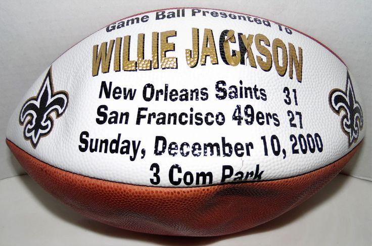 New Orleans Saints Game Ball Presented To Willie Jackson NO vs SF Dec 10, 2000 #Wilson #NewOrleansSaints