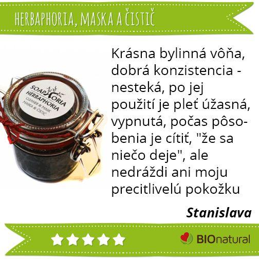 Hodnotenie masky a čističa Herbaphoria http://www.bionatural.sk/p/herbaphoria-maska-a-cistic-120-ml?utm_campaign=hodnotenie&utm_medium=pin&utm_source=pinterest&utm_content=&utm_term=herbaphoria