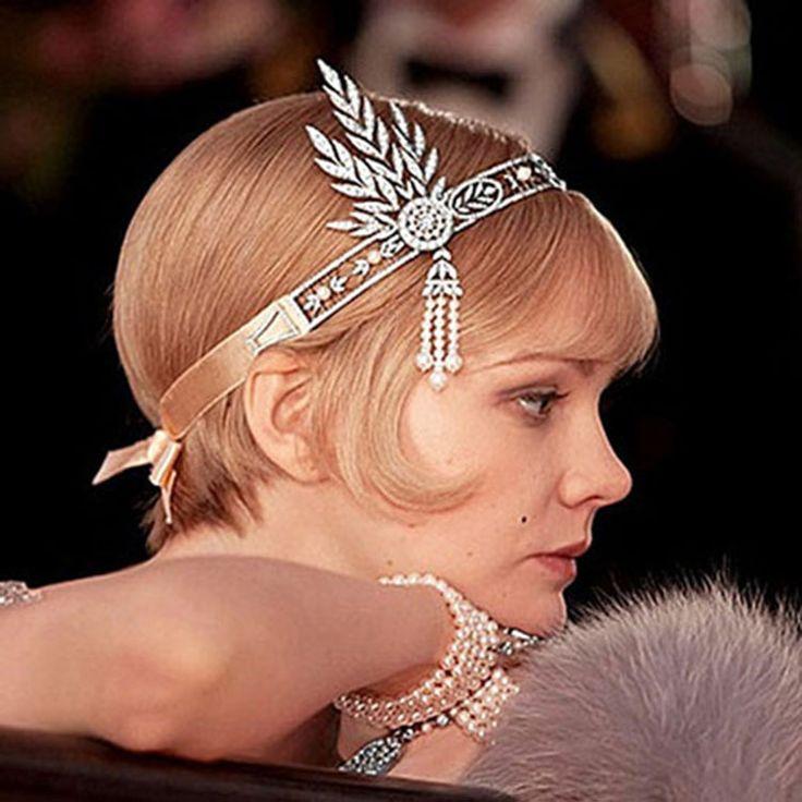De Great Gatsby Haaraccessoires Kristallen Kwasten Haar Hoofdband Sieraden Wedding Bridal Haarband Tiara en kronen