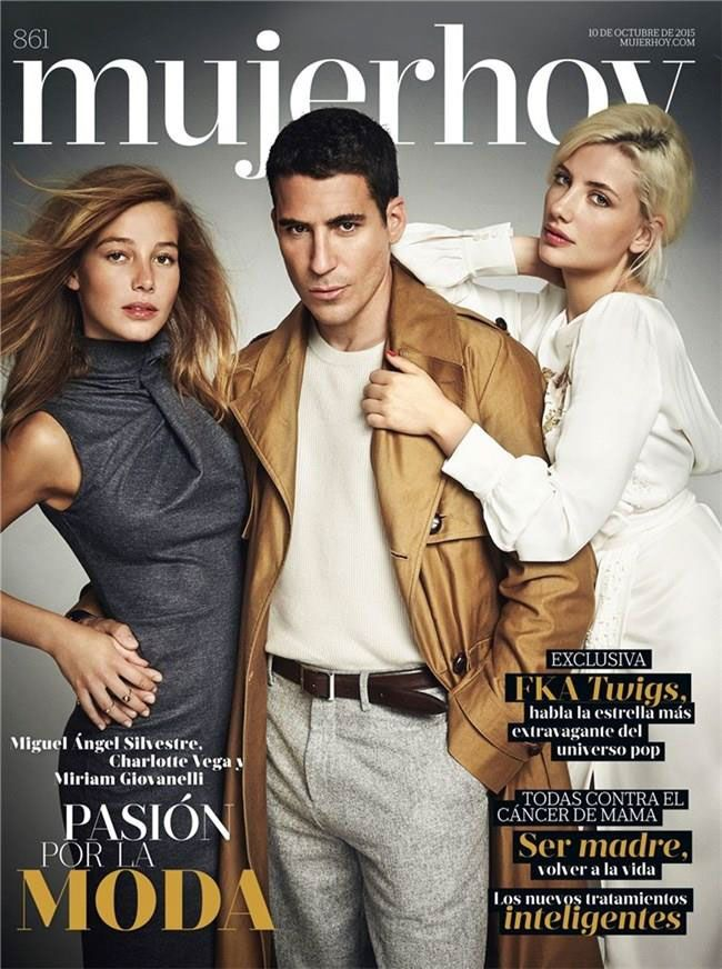 Spanish actress Charlotte Vega and Spanish actors Miguel Angel Silvestre and Miriam Giovanelli of VELVET (Spanish TV Show)