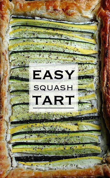 Puff Pastry Squash Tart   Recipe   Pastries, Puff pastries and Tarts