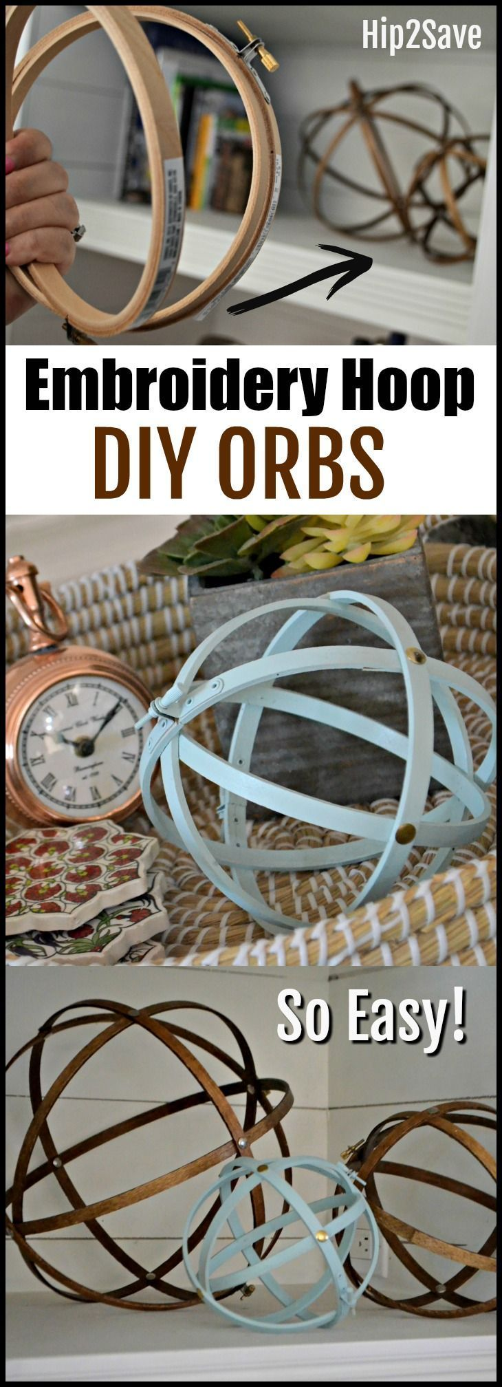You won't believe how easy it is to make these inexpensive farmhouse style decorative orbs for your home! #DIYHomeDecorInexpensive