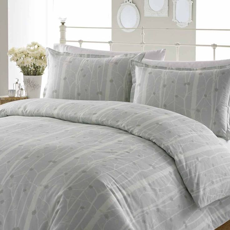 Laura Ashley Home Cottonwood Duvet Set in Grey & Reviews | Wayfair