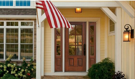 Classic Front Entry Door Design from Glasscraft at Tri-Supply.