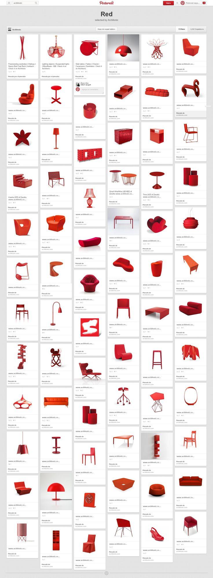 Architonic organizo en un tablero rojo una seleccion de - Decoraciones de hogar ...
