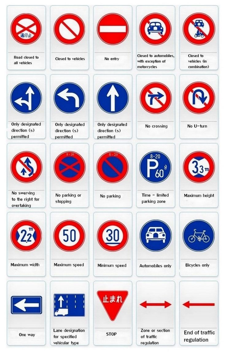 Turn key sign design sign manufacturing sign installation and sign - Japan Traffic Regulatory Signs