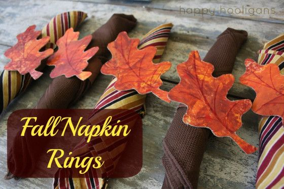 fall napkin rings - happy hooligans - thanksgiving crafts for kids