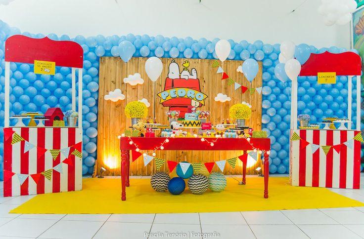 Blog maternidade Meu Dia D Mãe - Festa Menino Pedro 01 Ano - Decoração Snoopy Amarela e vermelha (2)