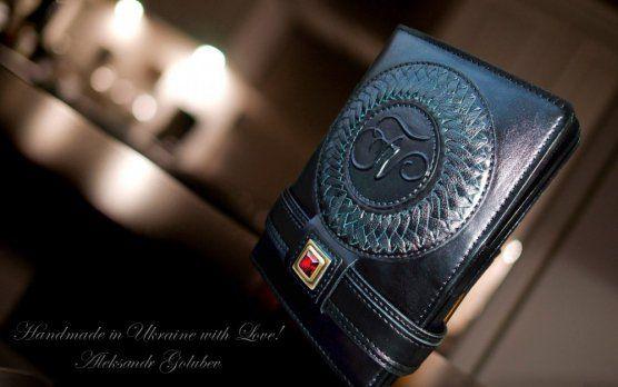 Именное мужское портмоне-клатч  handmade