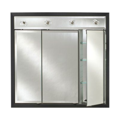 Afina Signature Contemporary Lighted Triple Door 47W x 40H in. Surface Mount Medicine Cabinet - AFC282-39