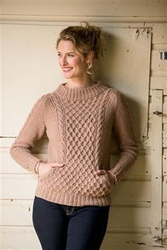 Cables AND pockets - what a fun and functional sweater -Ropemaker Pullover - Knitting Daily