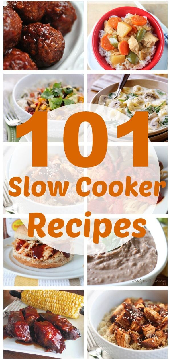 100+ Slow Cooker Recipes - these are broken down into Chicken, Pork, Sides…