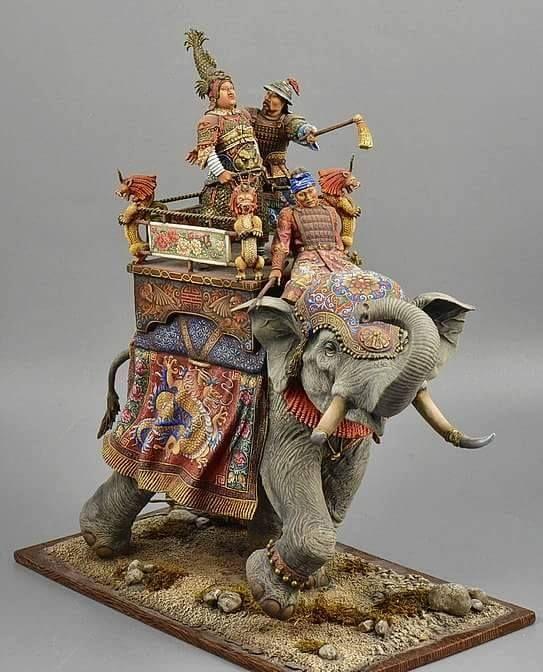 South East Asian War Elephant by Mikhail Kochetkov