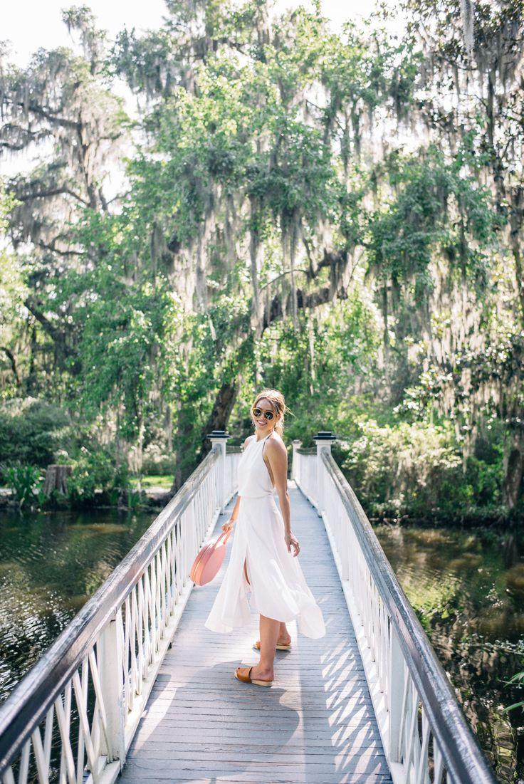 Gal Meets Glam White Summer Dress - Halston Heritage dress c/o, Mansur Gavriel bag, Kaanas sandals, and Lisi Lerch earrings