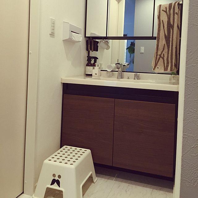 バス トイレ Lixil Ikea 三面鏡 マグネットコップ などのインテリア実例 2016 01 14 10 03 08 Roomclip ルームクリップ インテリア 洗面 三面鏡