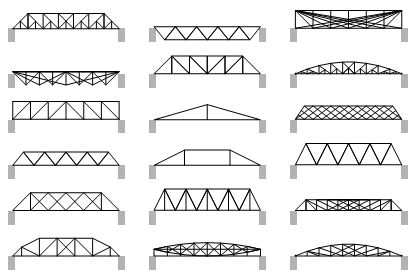 structural diagrams shapes | The Happy Pontist: The space of all possible bridge shapes: Part 1