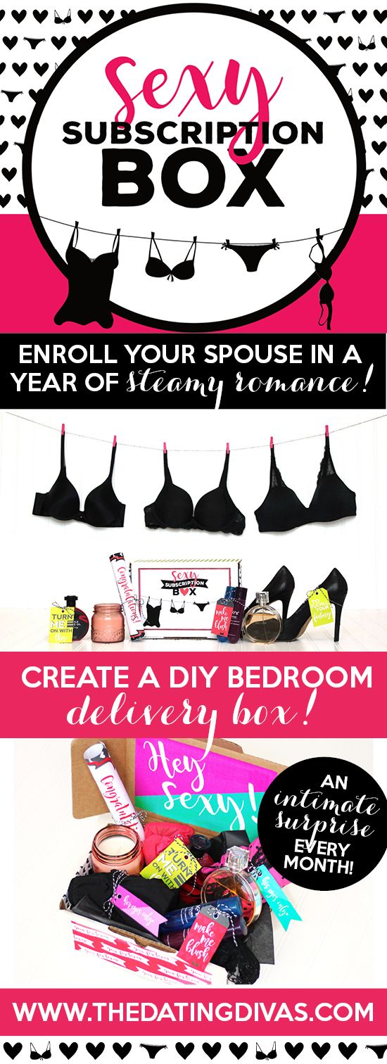 DIY Sexy Subscription Box- deliver a fun and intimate surprise to your sweetie every month. This kit has all the printables you need to decorate your box and pull it off. PLUS there's a bundle you can get with 12 bedroom games- one for each month! The perfect sexy anniversary, Christmas, or Valentine's day gift!!!