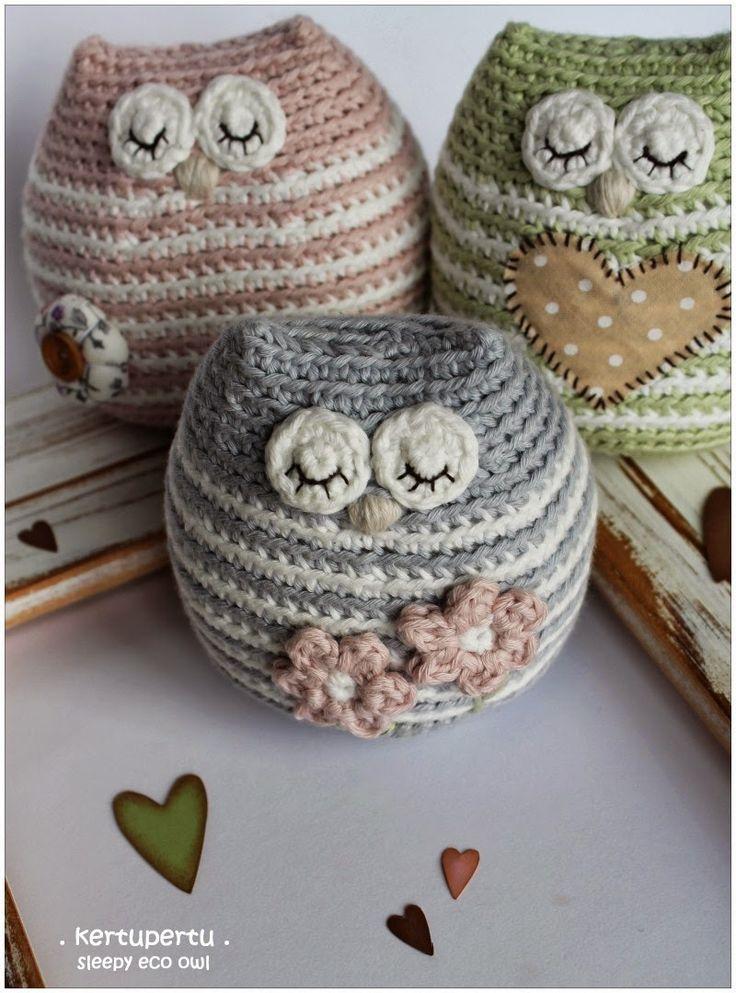 kertupertu maailm: Öko-Öku. Little sleepy eco owl ༺✿ƬⱤღ http://www.pinterest.com/teretegui/✿༻