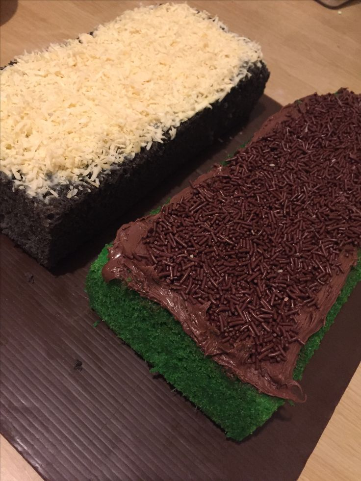 Pandan nutella & taro cheese cake