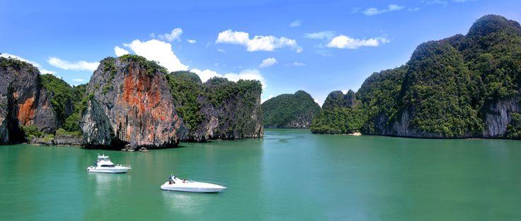Take a boat trip across Phang Nga Bay
