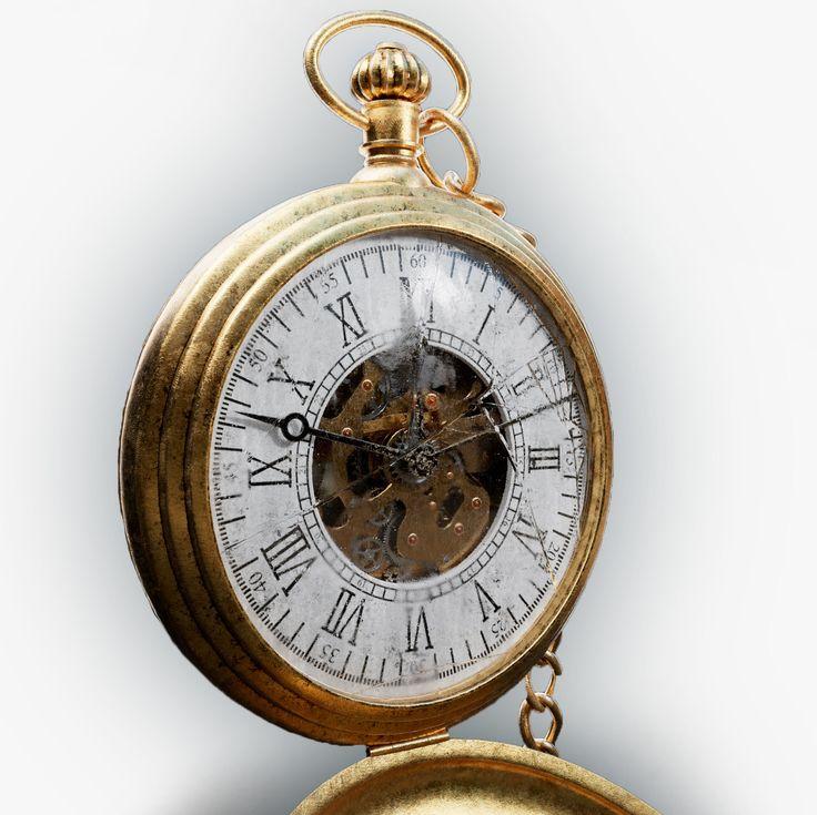 Obj Old Pocket Watch - 3D Model