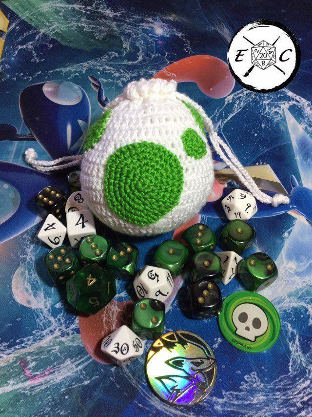 Remastered desgin! Bulbasaur Dice Bag! : crochet | Pokemon crochet ... | 854x640