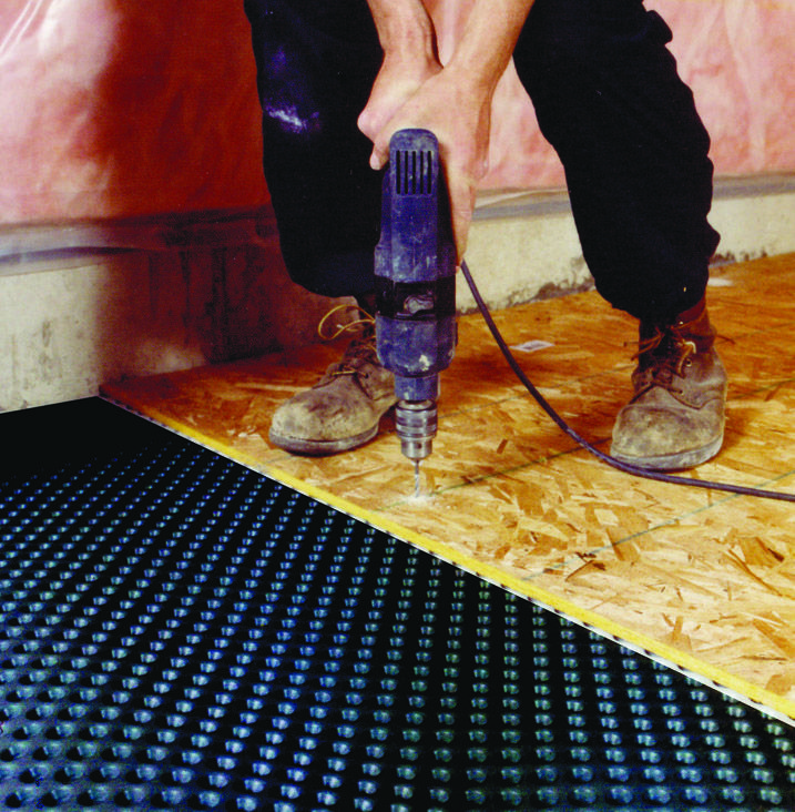Dimpled Floor Underlayment Flooring Ideas And Inspiration - Dimpled basement floor underlayment