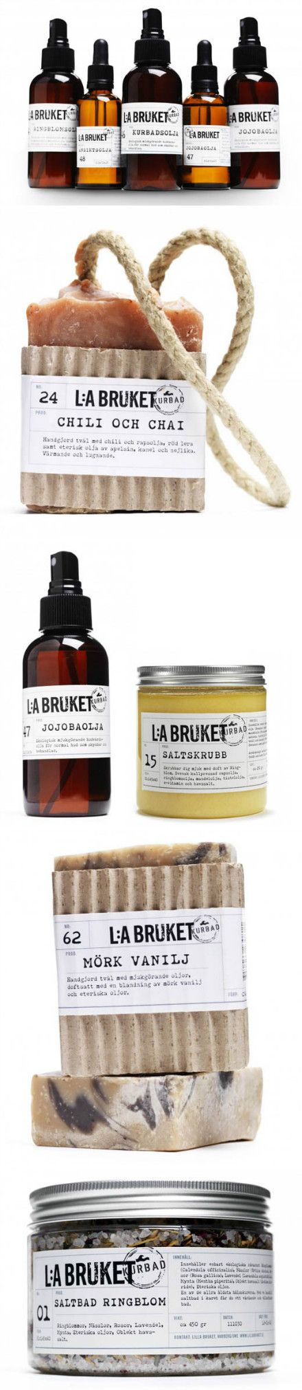 L:a Bruket,手工皂及spa产品,来自瑞典。 Great looking simple product #packaging PD