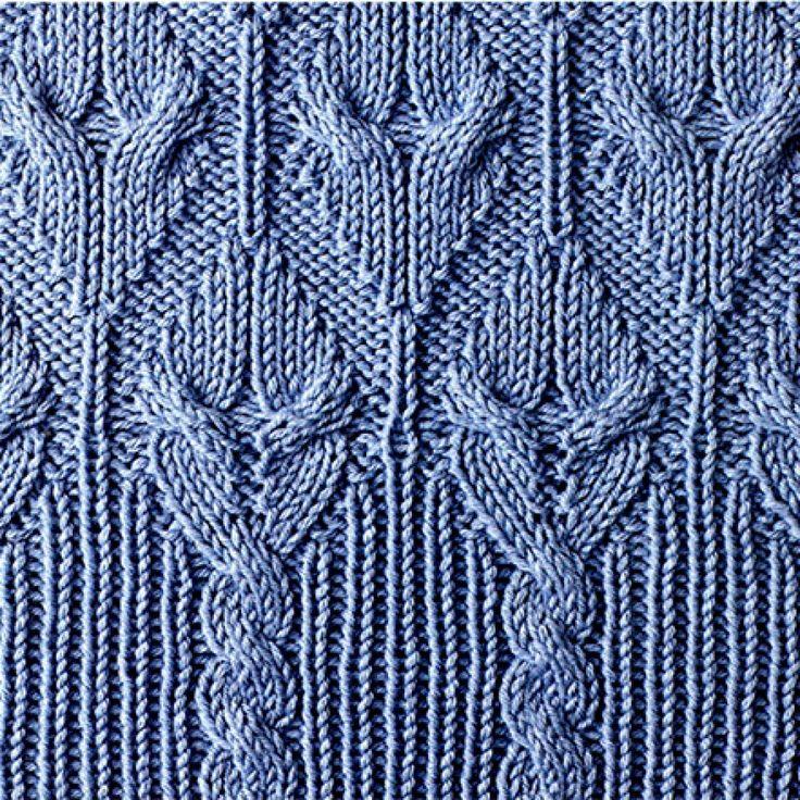 схема вязания косы спицами