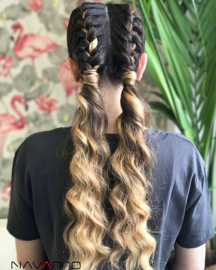 Atrévete a probar peinados diferentes, por ejemplo estas espectaculares #TrenzasBoxeadoras ! 👊🏻🔝 Peinado y color by @NavarroEstilistas #boxerbraids #Braids #trenzas #hairstyle #peluqueria