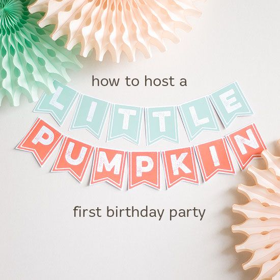 little-pumpkin-party- @shannonmauk Here is a cute idea for Em, it doesn't have to be a first birthday!