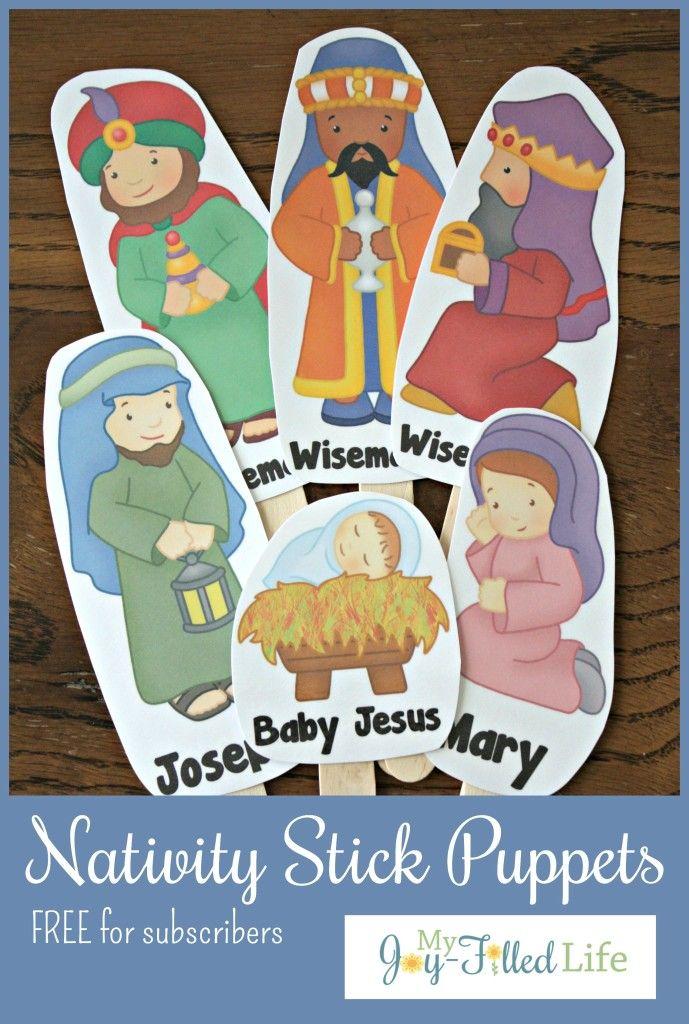 FREE Printable Nativity Stick Puppets - My Joy-Filled Life