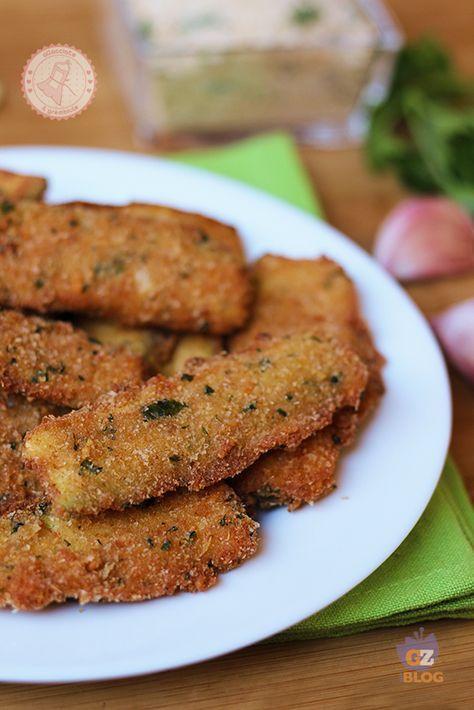 ZUCCHINE IMPANATE CROCCANTI-3 zucchine grandi 200 gr pangrattato 100 gr…
