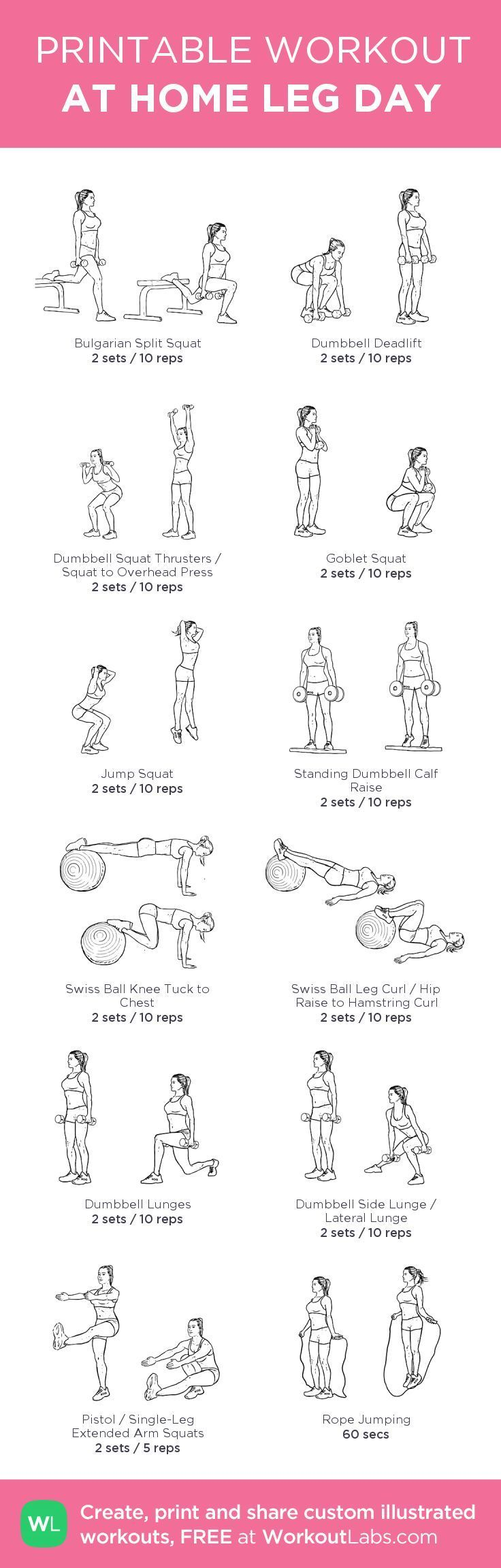 12 At Home Leg Day Workout for Women. The following leg day workout routine is very effective and diversify that can be perform in any order. As you progre