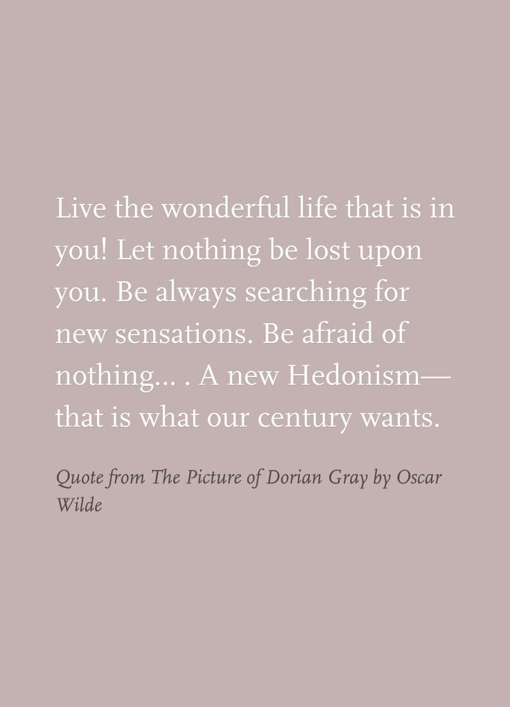 Quote from The Picture of Dorian Gray by Oscar Wilde ...