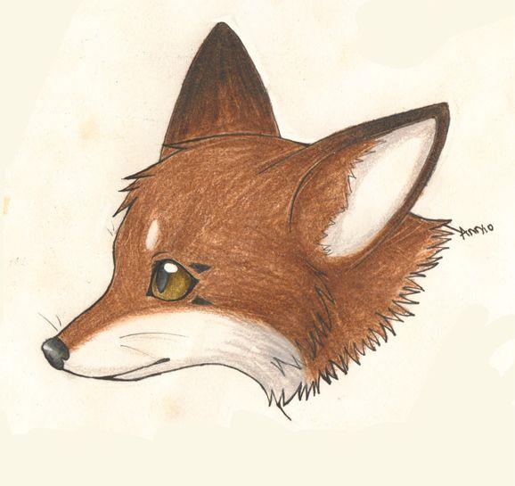 общем, картинка голова лисички была брюнеткой