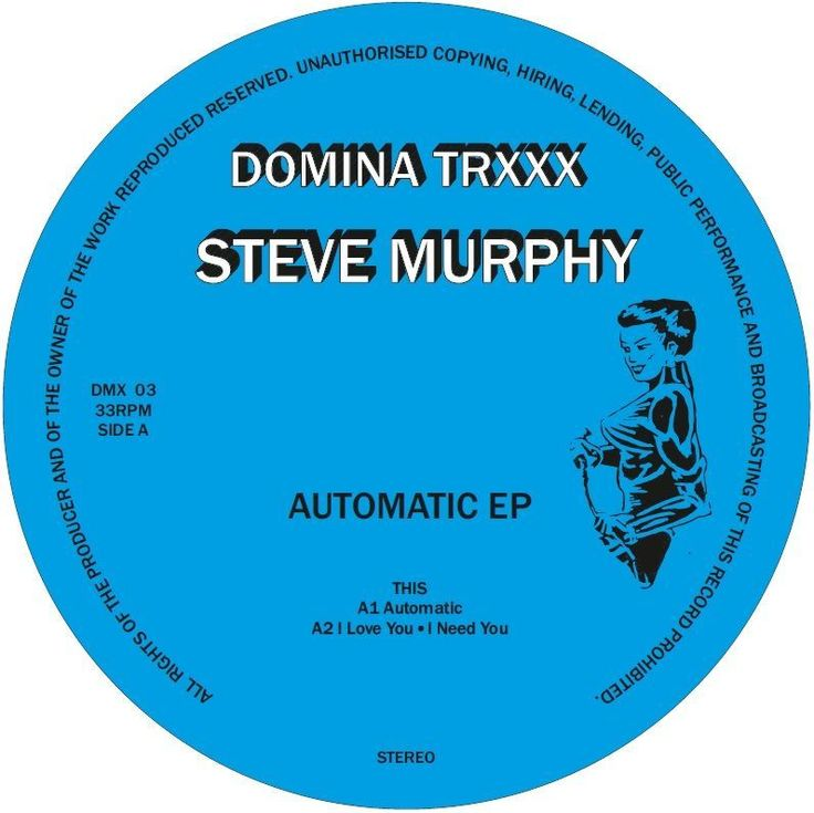 STEVE MURPHY with another killer release! The real italian Gigolo who already brought us great music on imprints like CHIWAX, Hot Haus Recs, Lobster Theremin, Hardmoon...the 90s are back! Tracks:  A1: Automatic A2: I Love You ° I Need You B1: They Are Controlled Pt.1 B2: They Are Controlled Pt.2