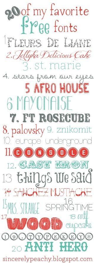 Fun free fonts! by brittbehm