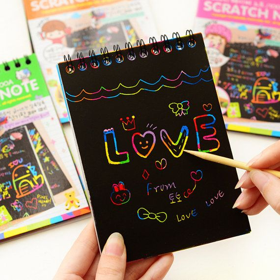 Notebooks & Writing Pads Office & School Supplies 2019 New Corgis Notebook Note Black Cardboard Creative Diy Draw Notes For Kids Toy Memo Pad Material School Supplies In Many Styles