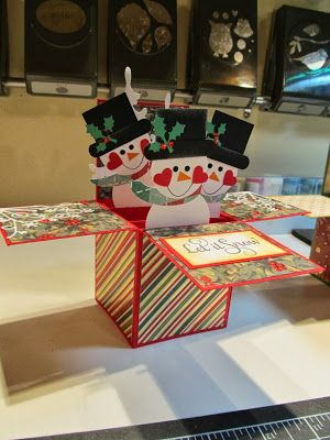 Calla Lily Studio Blog: Card-in-a-box pop-up snowmen