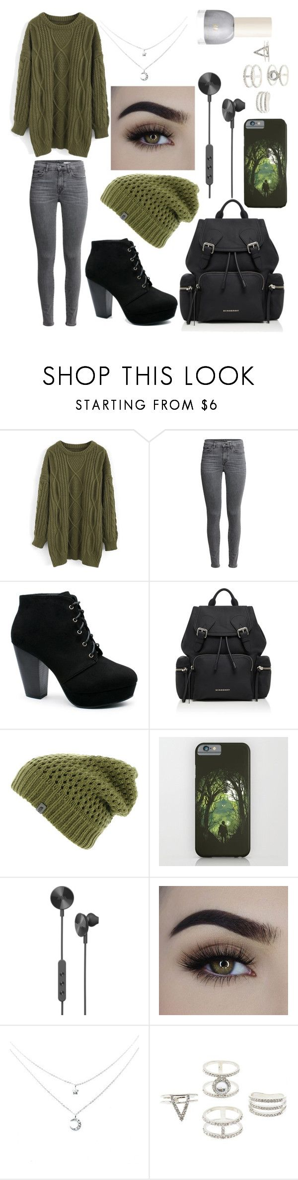 """Untitled #77"" by eliinako ❤ liked on Polyvore featuring Chicwish, Burberry, The North Face, i.am+ and Charlotte Russe"