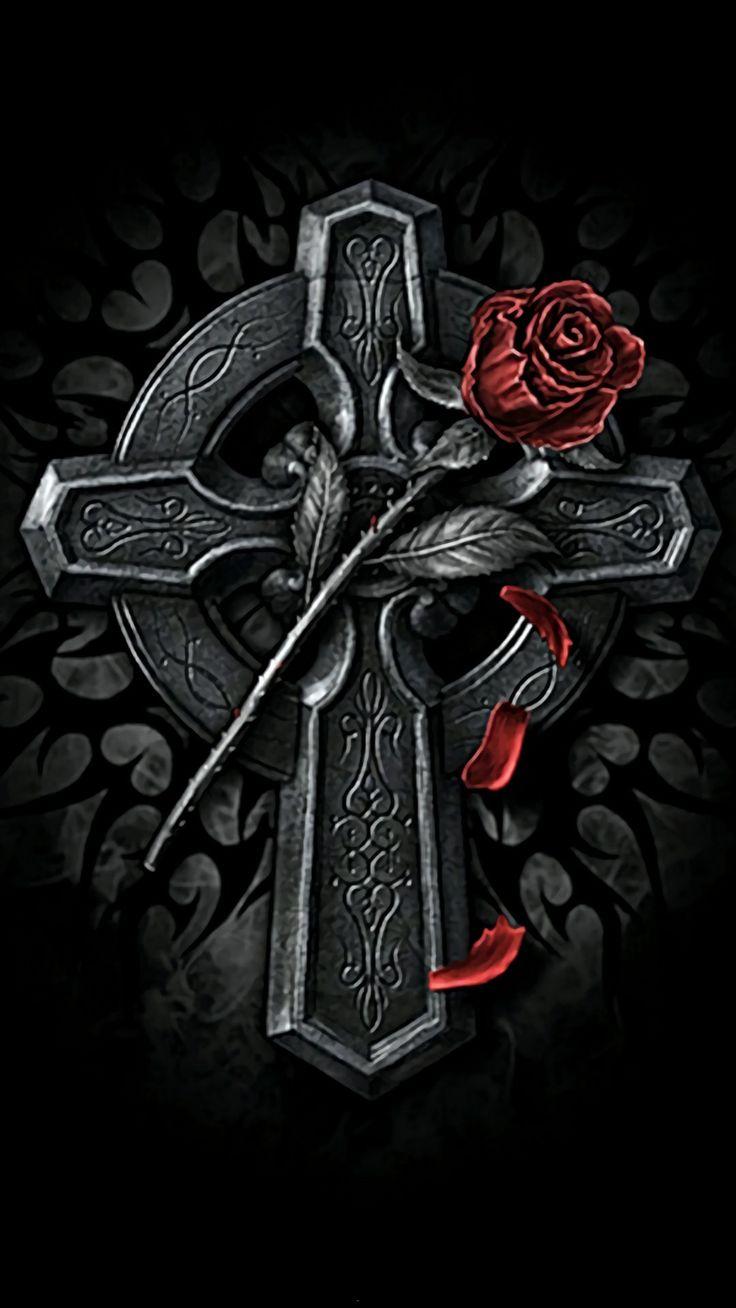 Готический крест картинки