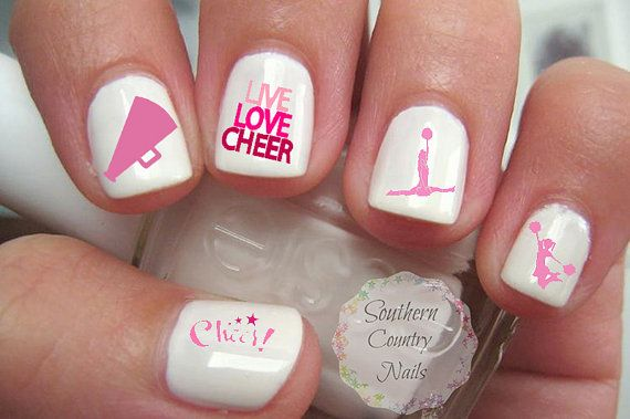 Hey, I found this really awesome Etsy listing at https://www.etsy.com/listing/232042135/cheer-cheerleading-nail-art-decals