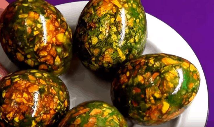 Отличная идея покраски яиц на Пасху: красиво, просто и ...