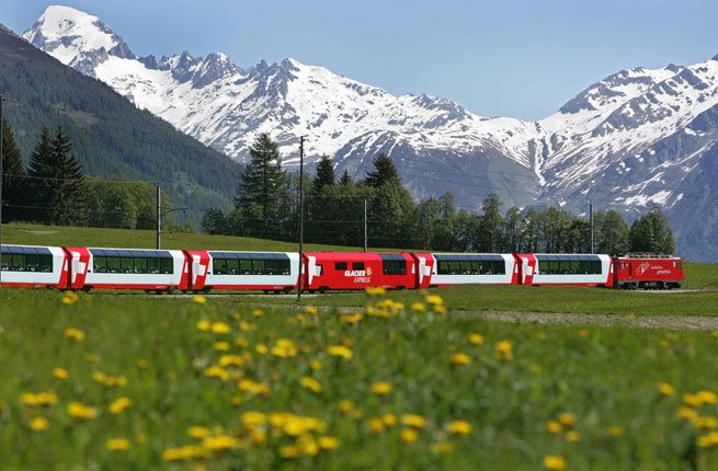 Some of the world's most beautiful destinations are also home to scenic train rides traversing snow-capped peaks and orange-hued deserts.