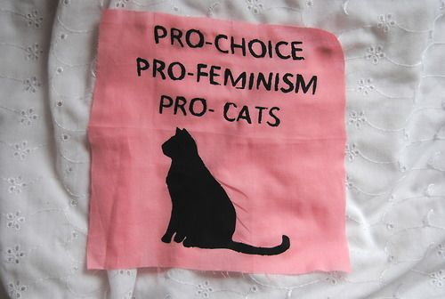 Pro-Choice for Me • Pro-Spay/Neuter for My Kitty • Pro-Feminism for Us Both •  Pro-TNR for the Ferals (Trap, Neuter, Return) ☺♥