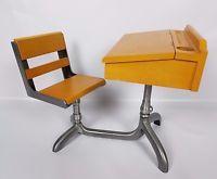 "American Girl 18"" Doll School Desk Molly Retired Wood Metal Pleasant Company"
