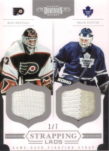 """""""Gonna be really hard not to bid on this....""""  Ron Hextall Felix Potvin panini dominion 2011-12 strapping lads 1/7 
